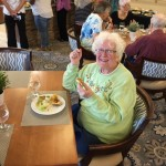 Marjorie Victorin enjoying her Thrive Dining™ brunch!