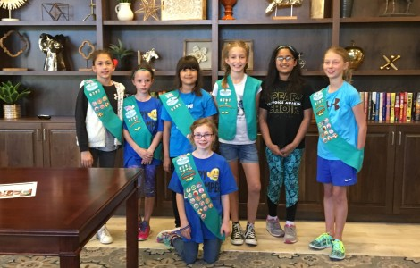 Frisco Girl Scouts Visit Parkview