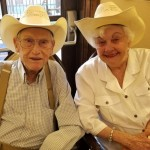 Residents enjoyed wearing their cowboy hats.