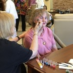 One of our residents enjoying the activities during our Grandparents Day event.