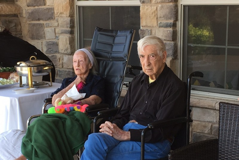 The residents really enjoyed sitting outside during the event.