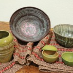 J Lyane Overall Willey, Thrown Earthenware Pottery and Woven Scarf