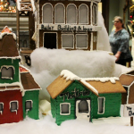 Our annual gingerbread Christmas village.