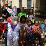 The Easter Bunny with the grandchildren of our residents.