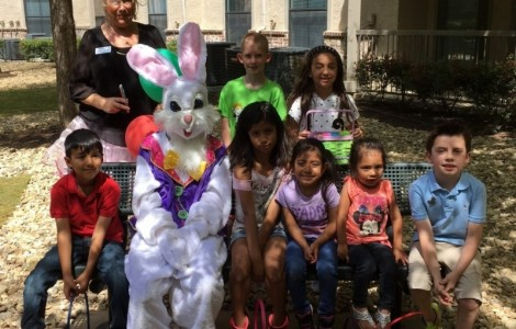 Easter Bunny Came to Visit at Parkview in Frisco