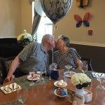 The celebration of the 70th wedding anniversary of our residents in The Inn.