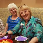 Residents Judy Patton and Annette Staatz