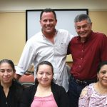 David Gustafson, Jose Deleon and wife, Marie Henriquez and Hermina Reyes