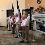 The Color Guard presenting colors