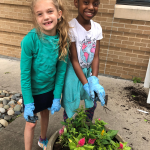 Tadlock students are full of joy as they garden with their new Parkview friends.