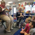 Regina Globerman and Sammy Vaughn had the students highly engaged with the Very Hungry Caterpillar!