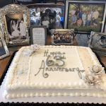 A beautiful cake surrounded by beautiful photos!