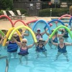 Aquatic fitness with pool noodles